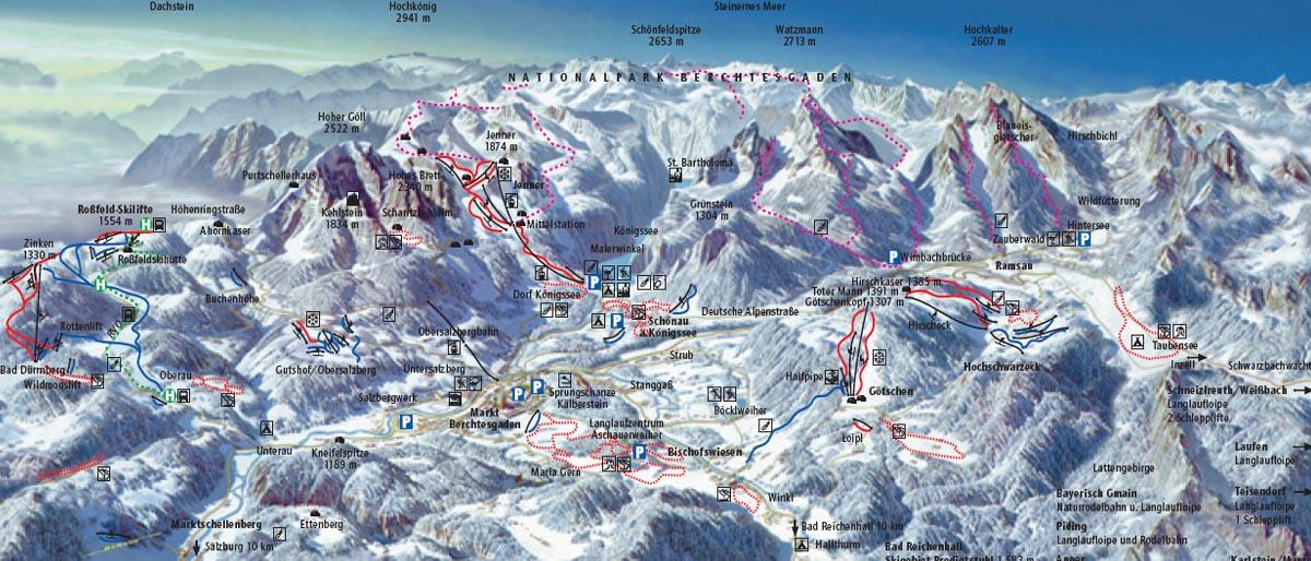 Lyzovanie Berchtesgaden Nemecko Lyzovanie Alpy Sk