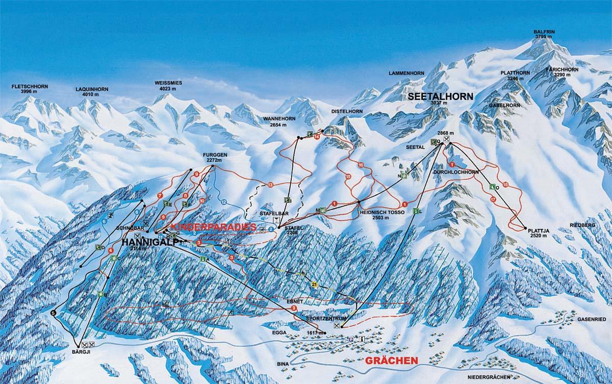 Grachen Switzerland  city pictures gallery : Grächen / Switzerland : Skiing Switzerland   top Swiss ski resorts