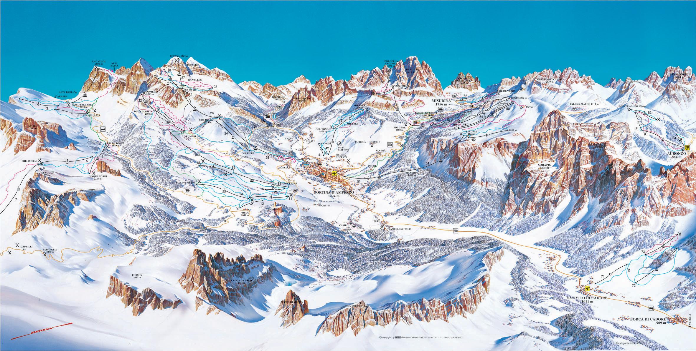 Cortina d Ampezzo Italy Skiing Italy Italian ski resorts