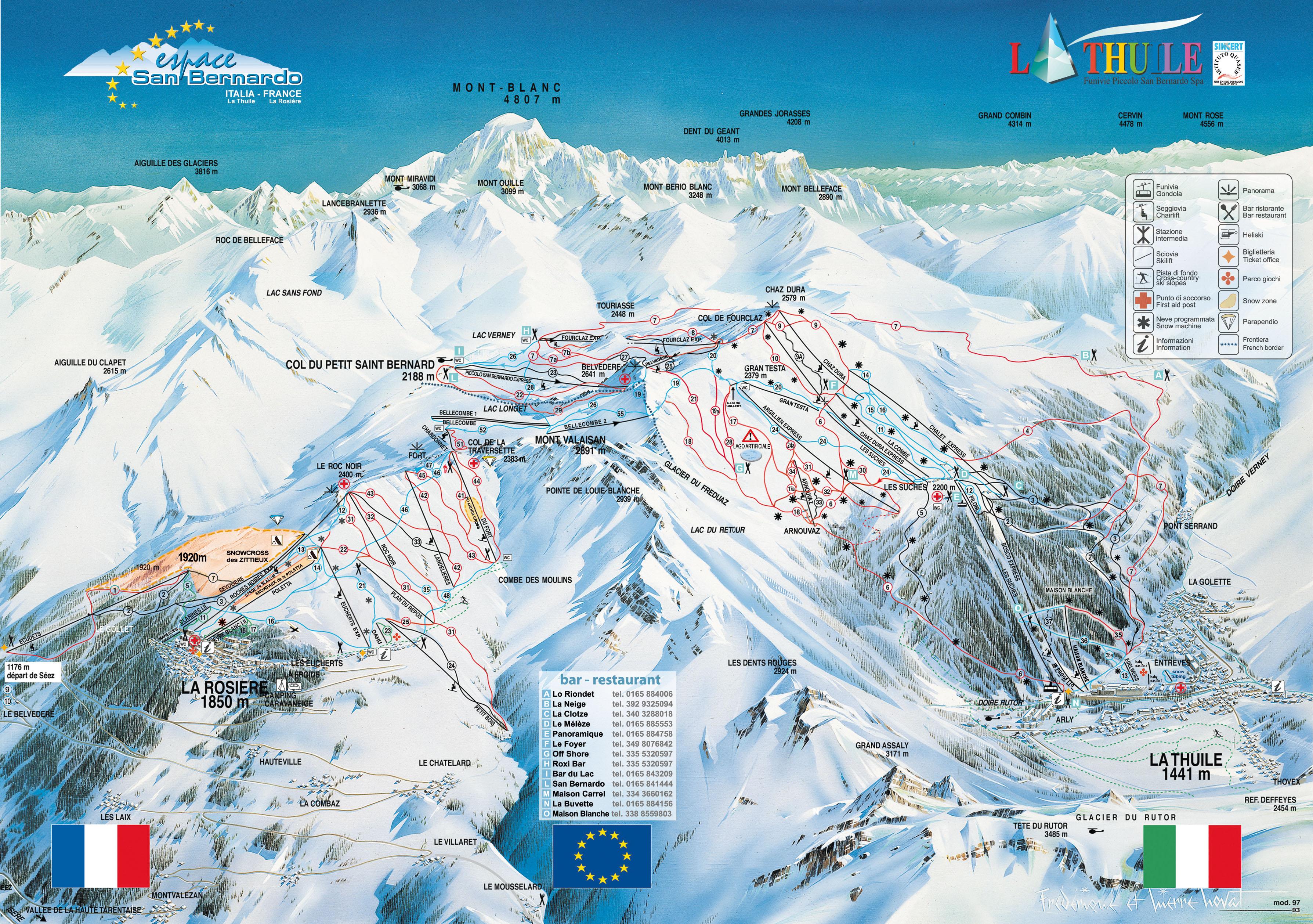 La Thuile Italy Skiing Italy Italian ski resorts