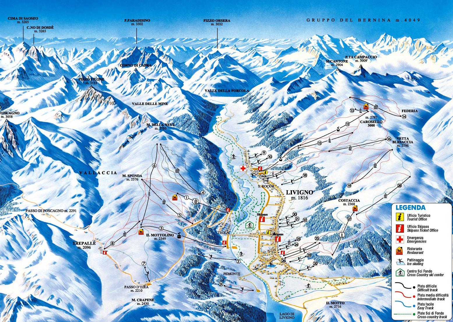 Livigno Italy Map.Livigno Italy Skiing Italy Italian Ski Resorts